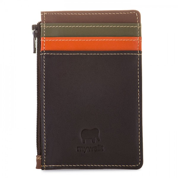 Credit Card Holder with Coin Purse Safari Multi