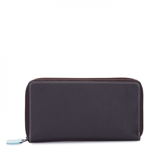 Large Double Zip Wallet Mocha