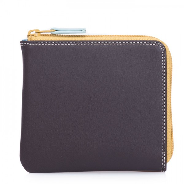 Small Zip Around Wallet Mocha
