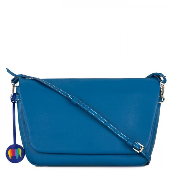 Bruges Flapover Cross Body Sea Blue