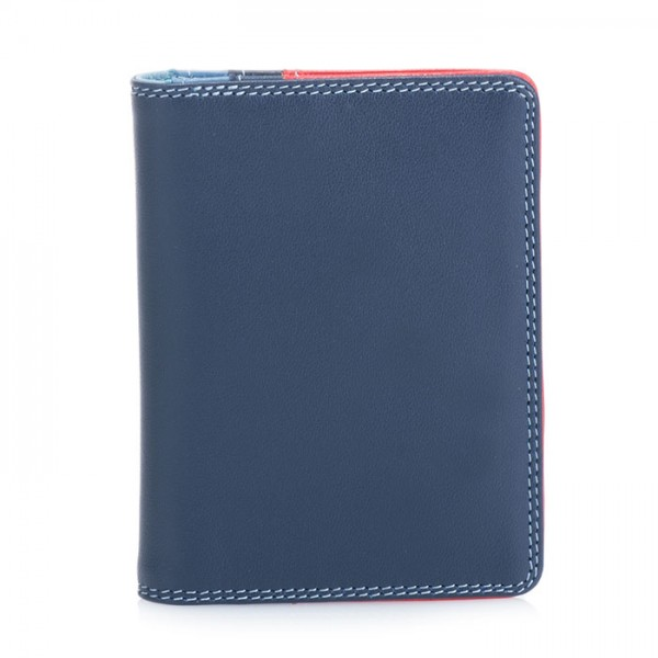 Credit Card Holder w/Plastic Inserts Royal