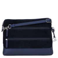 Pompei Tri-Zip Cross Body Blue