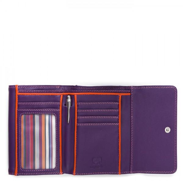RFID Double Flap Purse/Wallet Purple