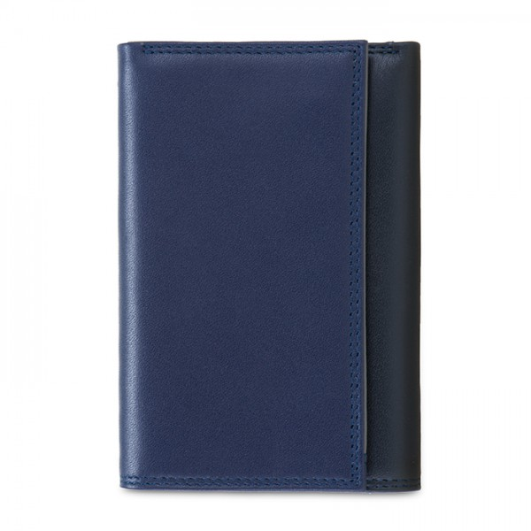 RFID Men's Tri-fold Wallet with Zip Nappa Notte