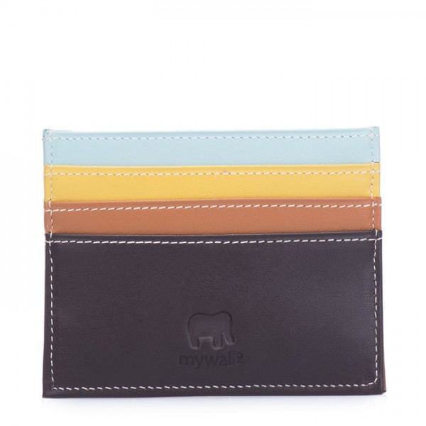 Double Sided Credit Card Holder Mocha