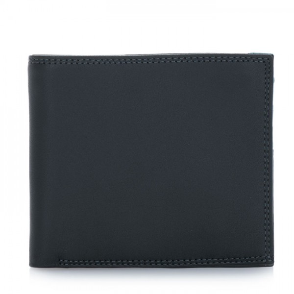Classic Wallet w/Zip Section Black Smokey Grey