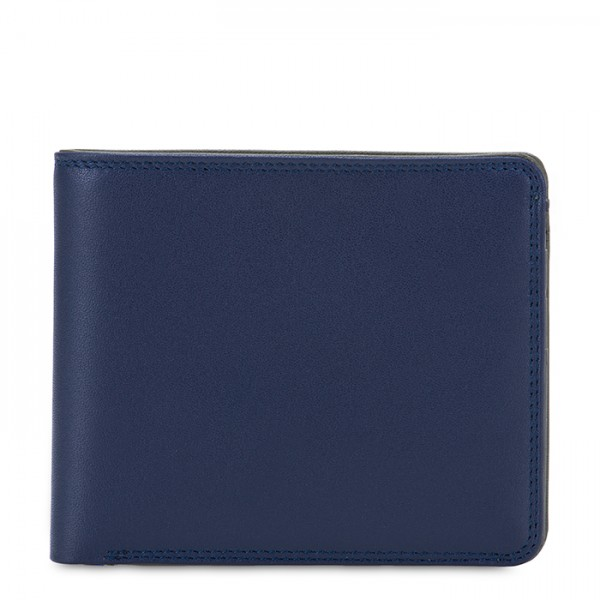 RFID Standard Men's Wallet with Coin Pocket Nappa Notte
