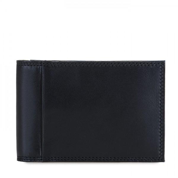 Portafoglio da uomo Bi-fold con Portacarte Nero-Blu