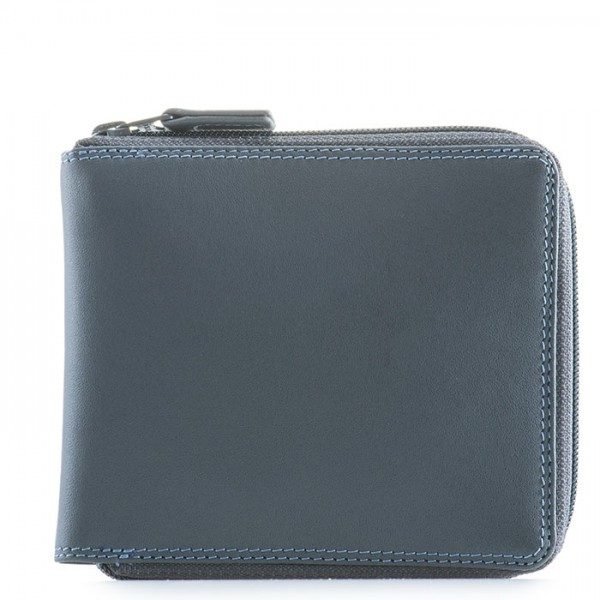 Full Zip Around Wallet Smokey Grey