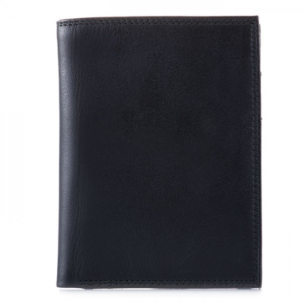 Men's Wallet w/Zip Section Black