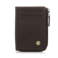 Panama Zip Wallet ID/Holder Brown