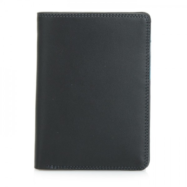 Continental Wallet with C/C Pockets Black Smokey Grey