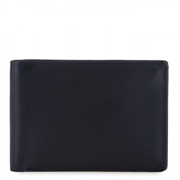 RFID Men's Passport Wallet Black-Blue