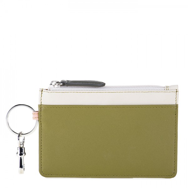Zipped Coin Pouch Olive