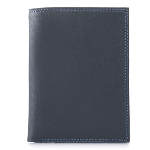 Men's Wallet w/Zip Section Smokey Grey