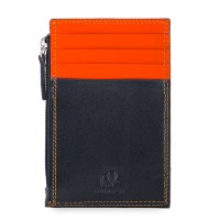 RFID CC Holder with Coin Purse Black-Orange