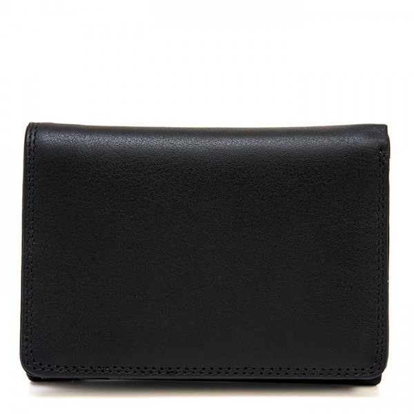 Men's Tri-fold Leather Wallet Black