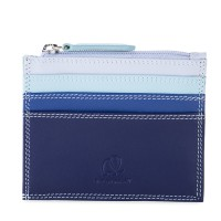 Credit Card Holder w/Zip Pocket Denim