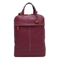Slim Leather Backpack Chianti