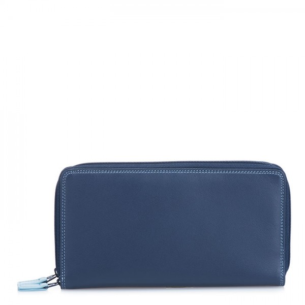 Large Double Zip Wallet Royal