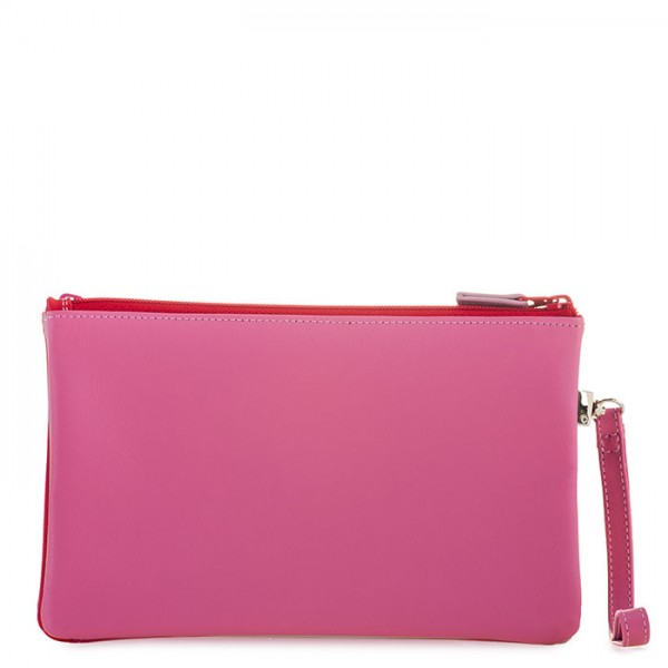 Small Double Zip Pouch Ruby