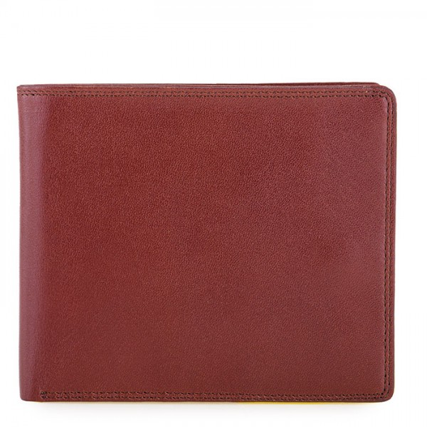 RFID Large Men's Wallet with Britelite Brown-Yellow