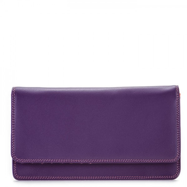 RFID Medium Matinee Wallet Purple