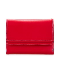 RFID Double Flap Purse/Wallet Red