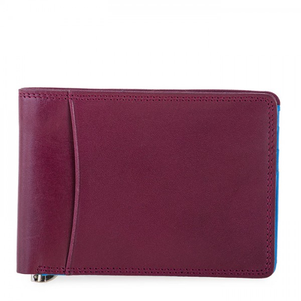 RFID Slim Money Clip Wallet Plum-Caribbean