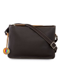 Rhodes Zip Top Crossbody Brown