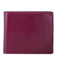 RFID Large Men's Wallet with Britelite Plum-Caribbean
