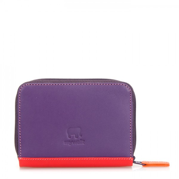 RFID Zipped Credit Card Holder Sangria Multi