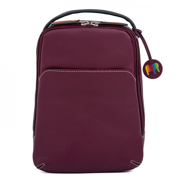Office Small Leather Cross Body Backpack Chianti