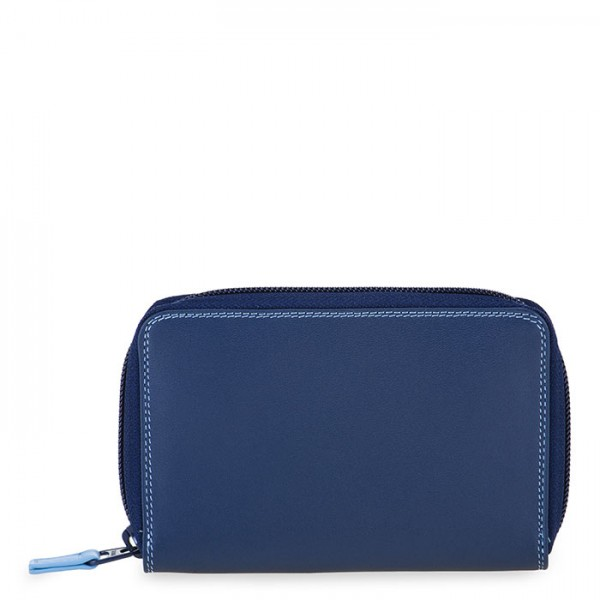 Medium Leather Zip Around Wallet Royal