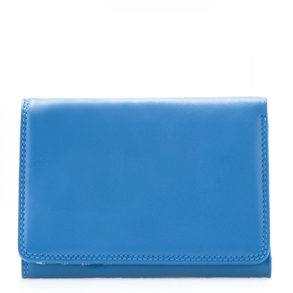 RFID Small Tri-fold Wallet River Blue