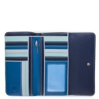 Tri-fold Zip Wallet Denim