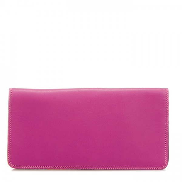 Large Slim Wallet Sangria Multi