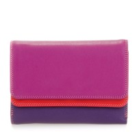 Double Flap Purse/Wallet Sangria Multi