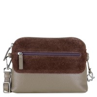 Pompei Zip Top Cross Body Mink