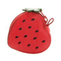 Fruits Strawberry Purse Red