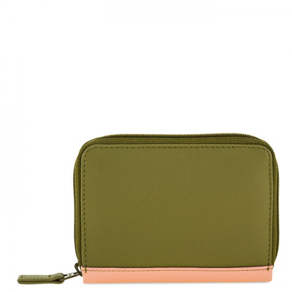Zipped Credit Card Holder Olive