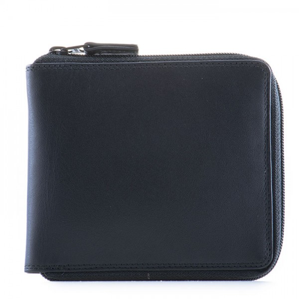 Full Zip Around Wallet Black