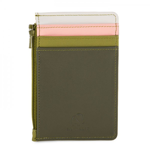 Credit Card Holder with Coin Purse Olive