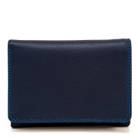 Men's Tri-fold Leather Wallet Kingfisher