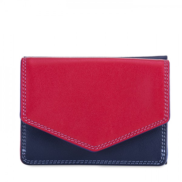 Tri-fold Leather Wallet Royal