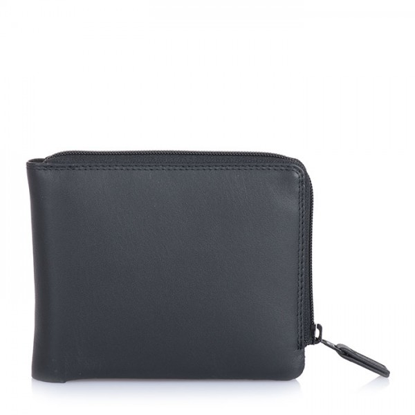 Zip Around Men's Wallet Black
