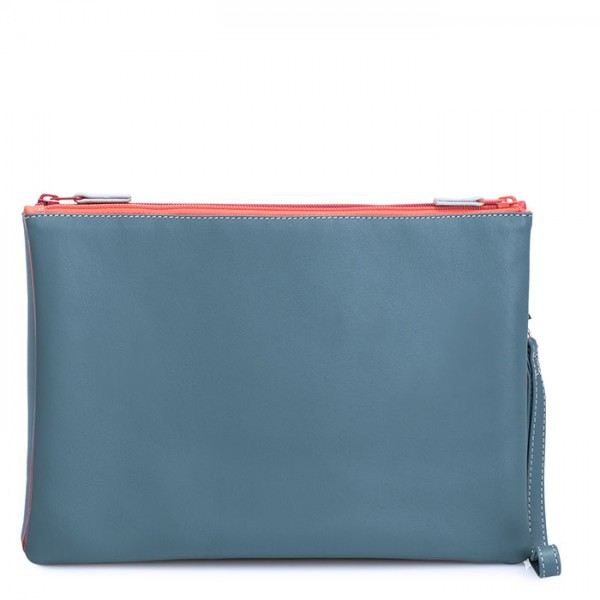 Medium Double Zip Pouch Urban Sky