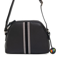 San Diego Crossbody Half Moon Bag Black