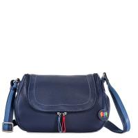 Seoul Scoop Zip Shoulder Bag Blue