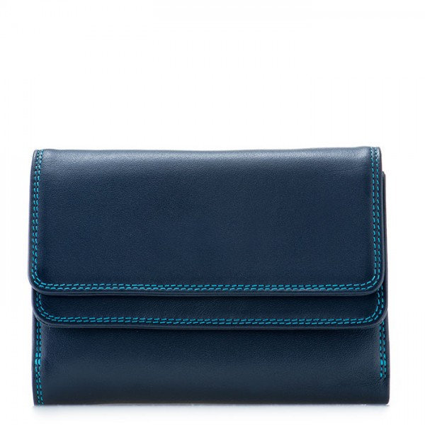 RFID Double Flap Purse/Wallet Navy